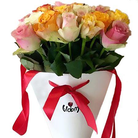 Bouquet Orange mood in the cone