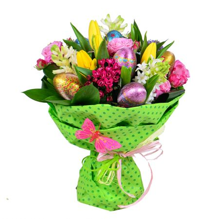Buy Easter bouquet with chocolate eggs