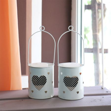 Bouquet Candlesticks with hearts