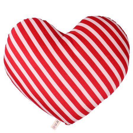 Product Pillow red-and-white heart