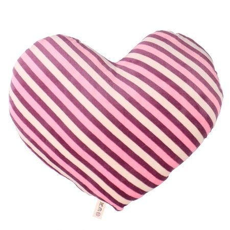 Product Pillow Striped Heart