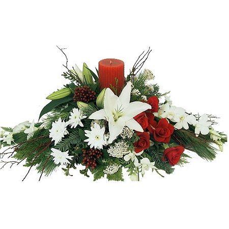 Bouquet Festive composition with candle