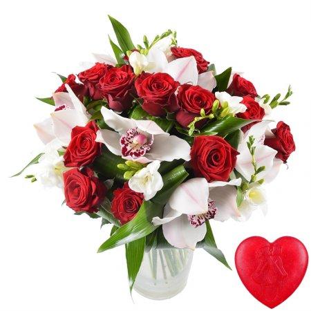 Bouquet Romance + soap for free