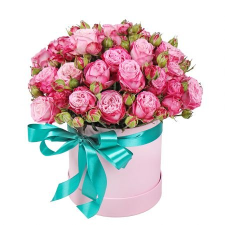 Bouquet Pink spray roses in a box