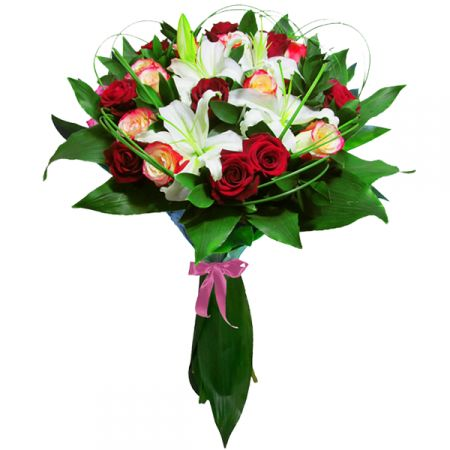 Bouquet Roses with lilies