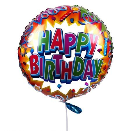 Buy Happy Birthday Foil Balloons by the Piece (in assort.) with delivery