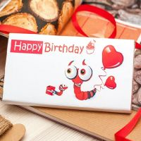 Chocolate ''Happy Birthday'' with delivery