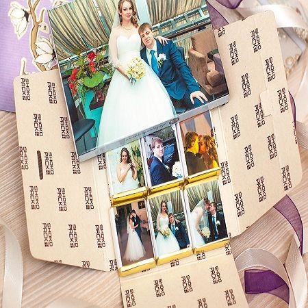 Order chocolate Wedding Set (9 Chocolates with Photos)