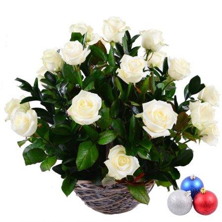 Bouquet Snow + Christmas balls