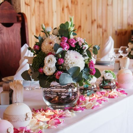 Bouquet Purple glitter