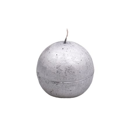 Product Свеча-шар серебряная