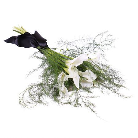 Bouquet Funeral bouquet of Calla lilies