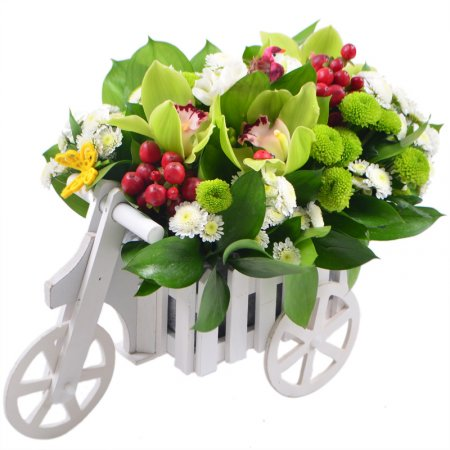Bouquet Flower bicycle