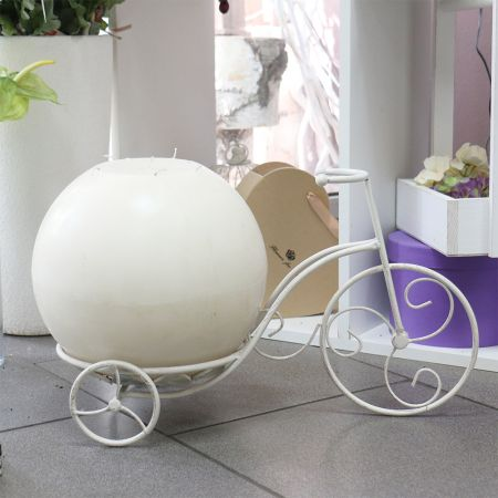 Product Bicycle with a candle