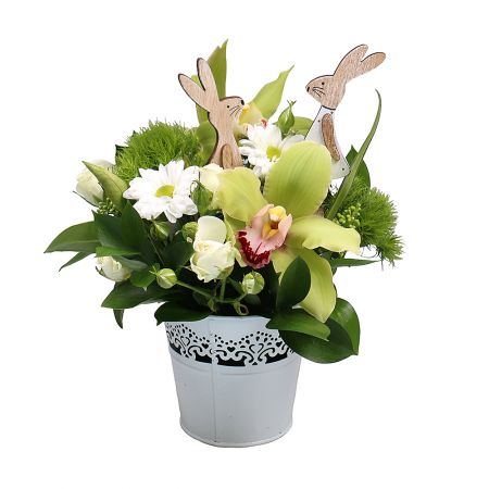 Bouquet Bunny in the forest