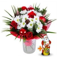 Bouquet Wintry+Chocolate Santa Claus