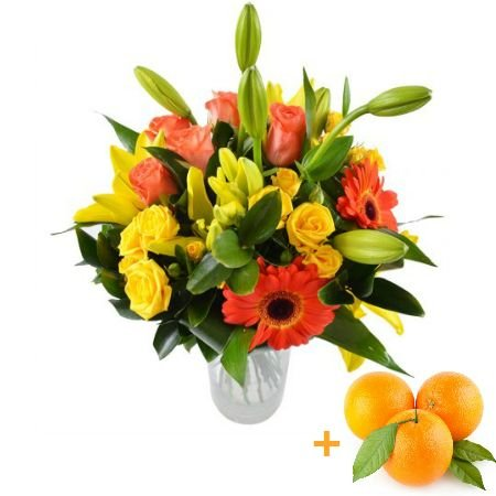 Bouquet Golden + oranges as a gift