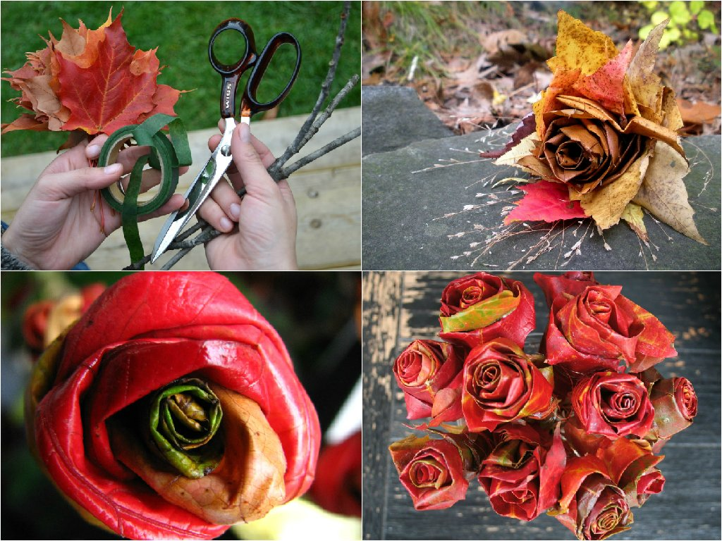 Fall leaves bouquets