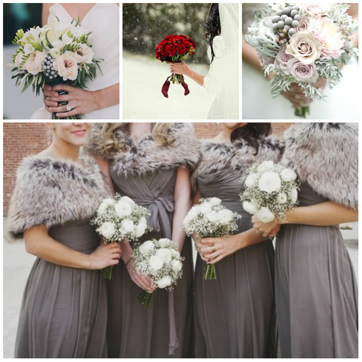Best Flowers For Winter Wedding: Winter Bride's Bouquet
