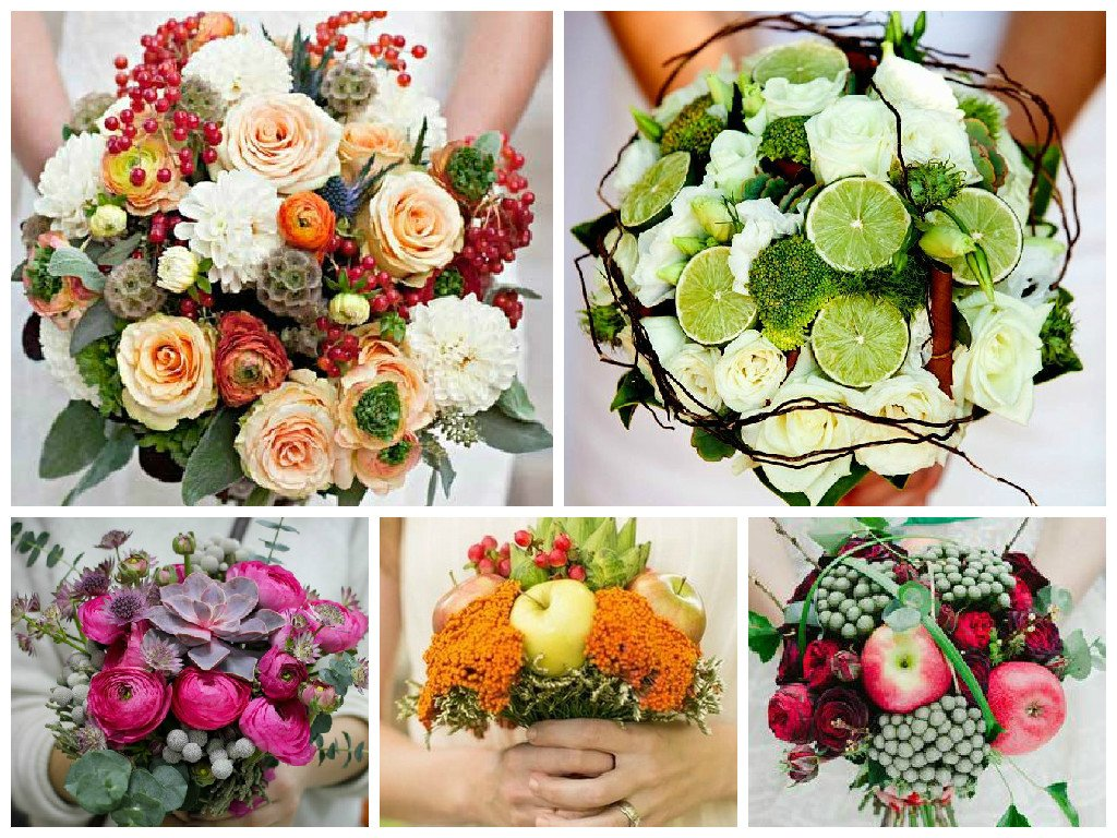 Bouquet with fruits