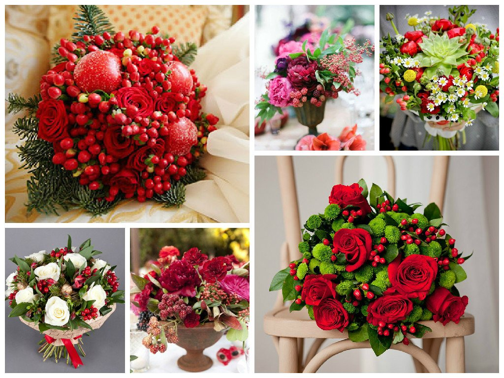 Bouquets of fruits of berries