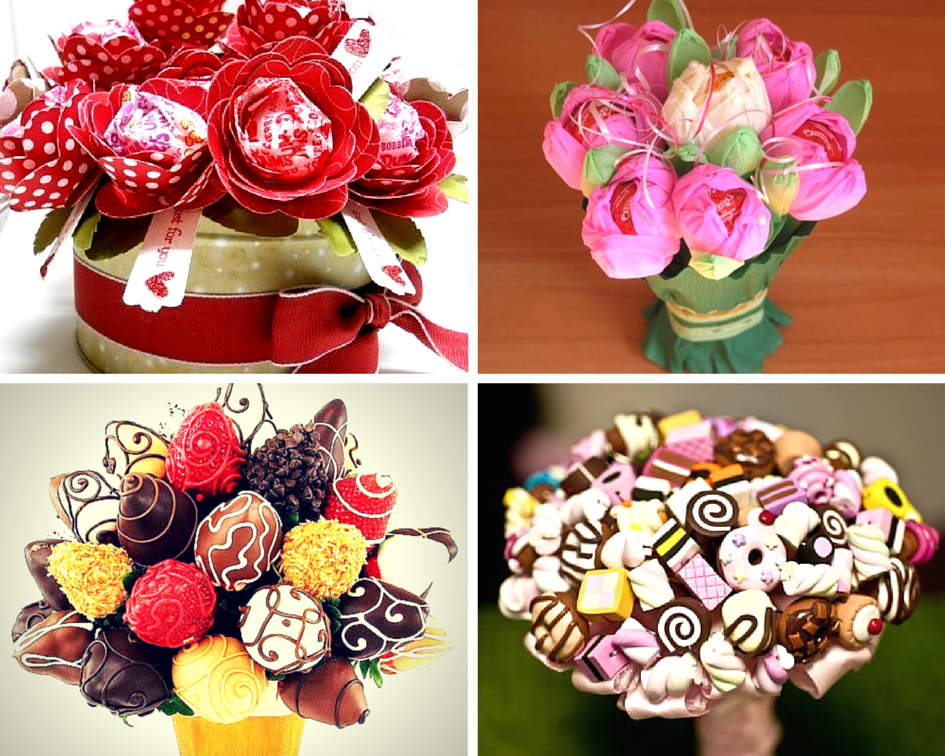 Красивые букеты из конфет своими руками 82