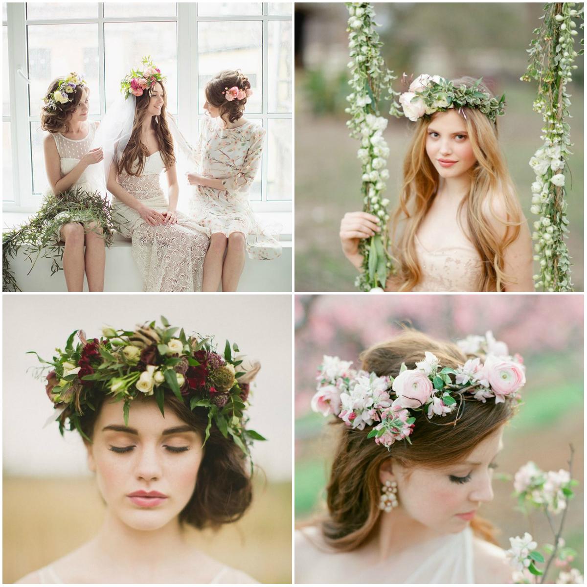 Цветы в свадебных прическах