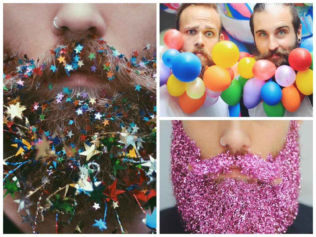 Decorations on beards