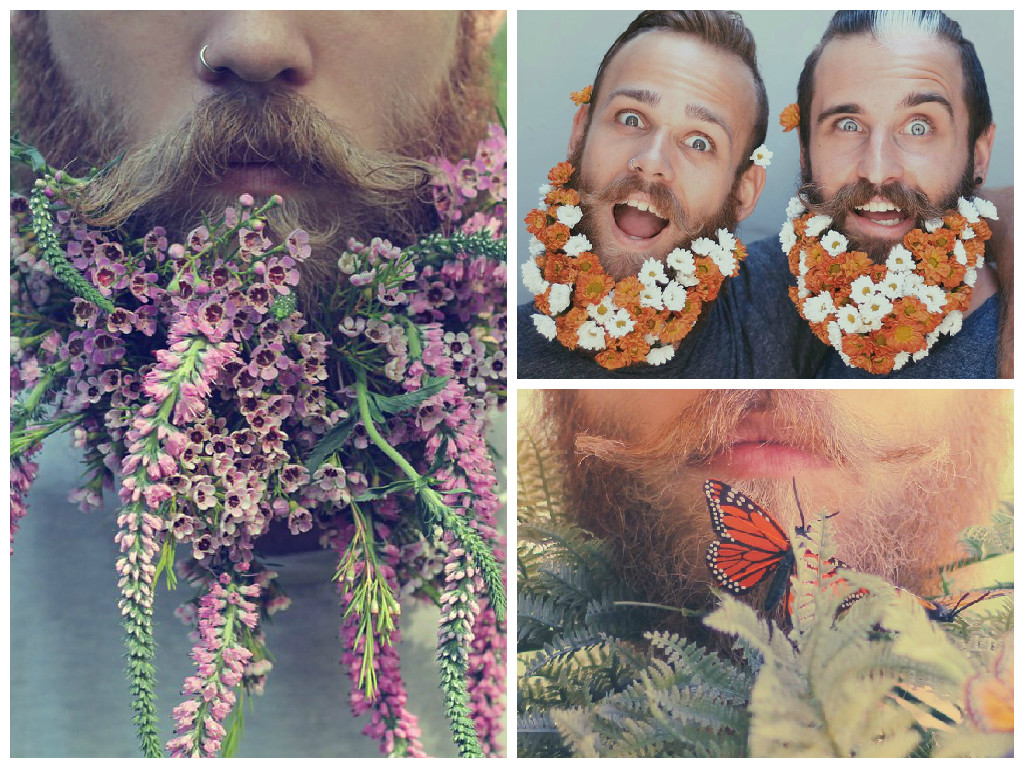 Floral beards