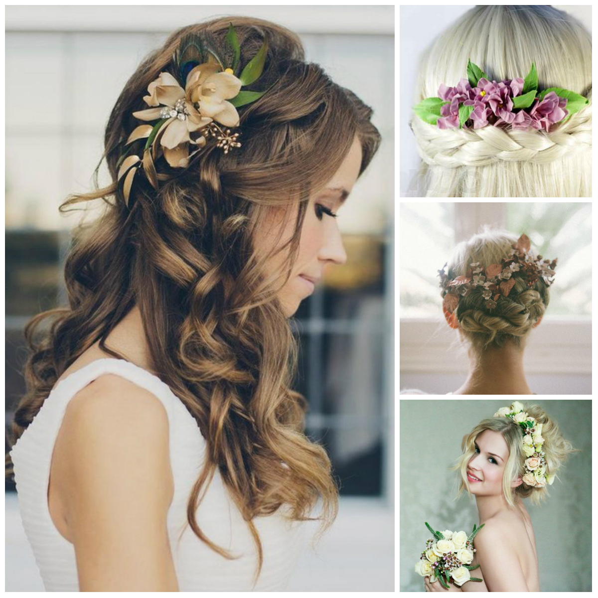 20 Wedding Hairstyles With Flowers: Wedding Hairstyles With Flowers