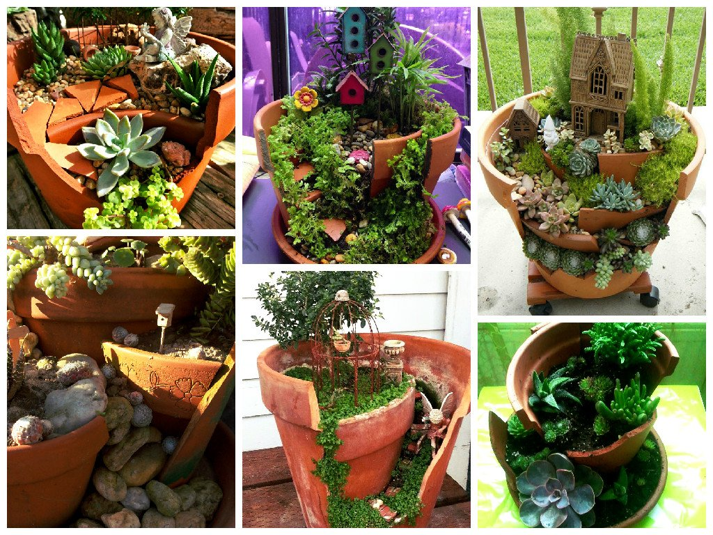 How to make flower pot garden step by step