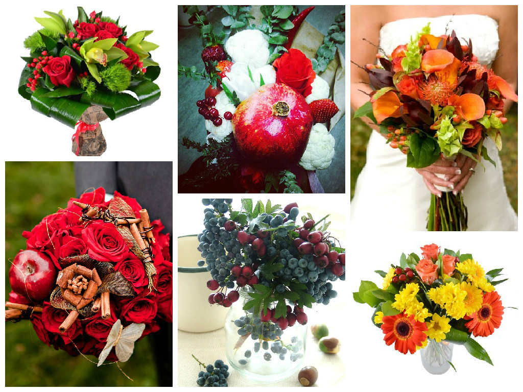 Original bouquets of fruits and berries